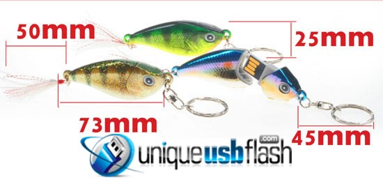 Fishing Lure USB Flash Drive Size